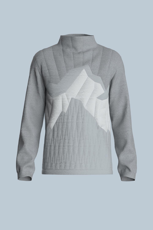 Sweater Snow Grey Mountains