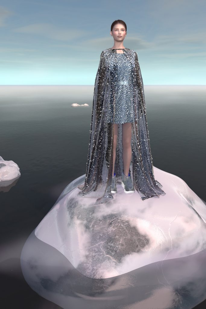 _frosty cape and dress