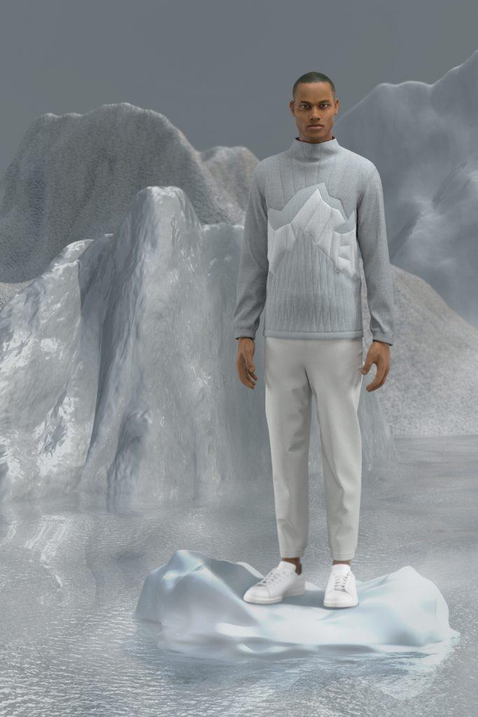 _sweater neve nelle montagne grigie