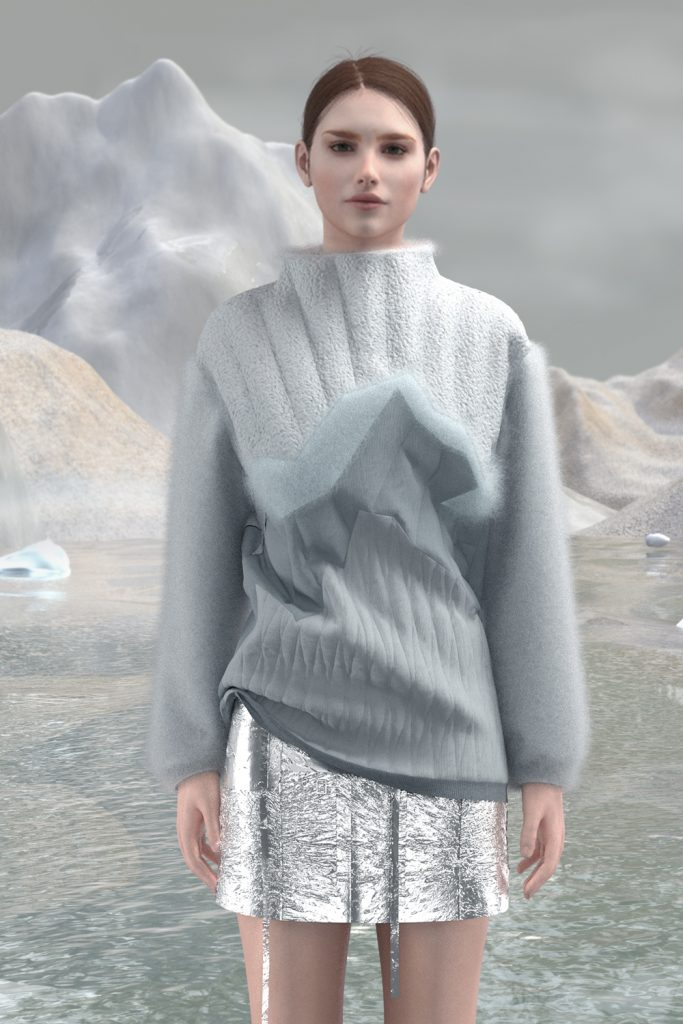 _sweater snow in the mountains